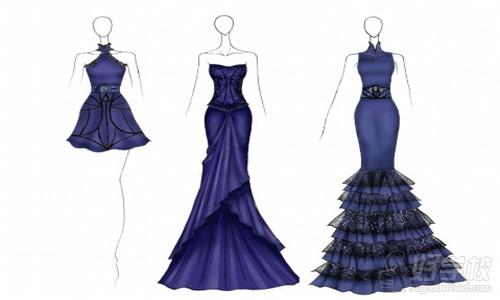 服装造型的设计,材料的选择,技术工艺的研讨,色彩的配置和细节部分的图片