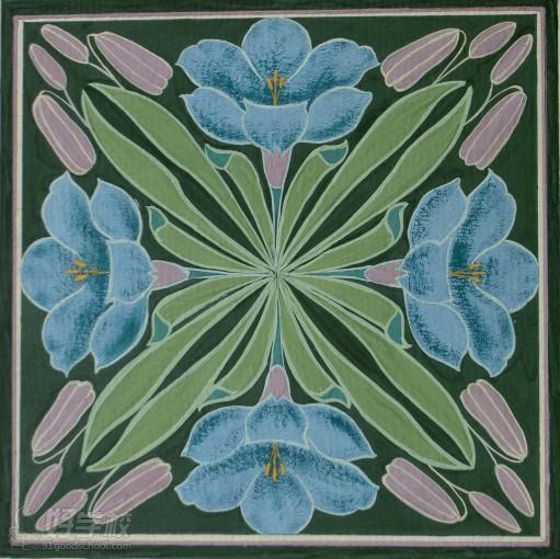 美术基础学员花卉绘画作品