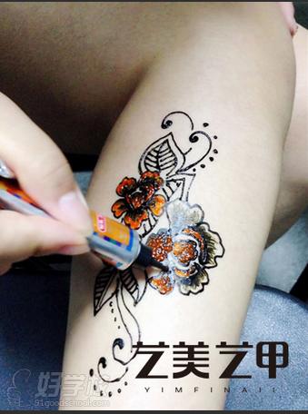 北京汉娜纹身彩绘培训小班