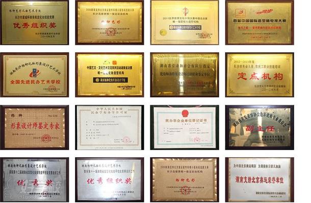 杨柳化妆形象设计艺术学校荣誉资质展示