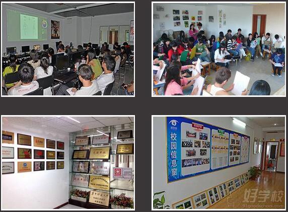新思维电脑美术学校教学环境图片