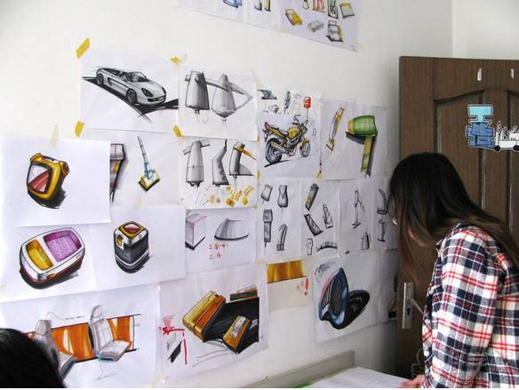 武汉汉武手绘设计中心工业设计班教室环境