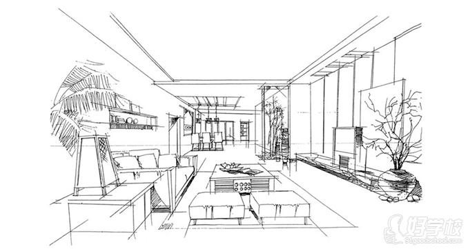 室内设计手绘学生作品