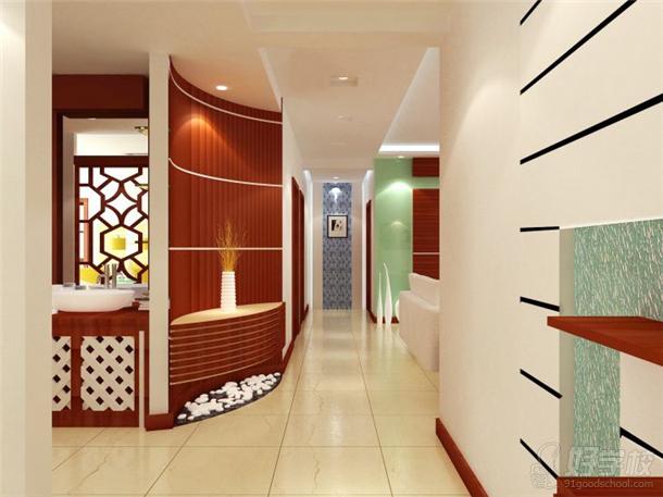 广州前进室内过道-3dmax室内装修设计图(纯模仿)