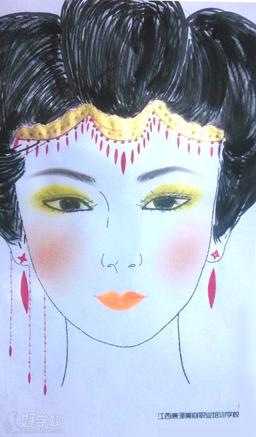 学员纸妆设计作品展示