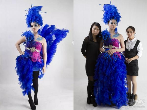 孔雀仿生服装设计图片