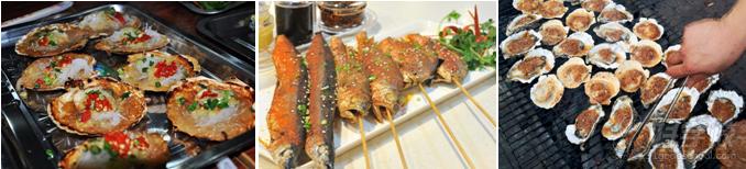 项目介绍 海鲜食品一向是受人们欢迎的食物,其丰富的蛋白质、低胆固醇、各种微量元素,与肉类相比对人的营养和健康更为优越。更有许多海鲜食品,包括生蚝、龙虾、海胆、海参、鱼卵、虾卵等等,因为富含锌、蛋白质等营养素,都有壮阳、强精的效果。  品种介绍 蒜蓉烤生蚝  蒜蓉烤扇贝  鸡汁烤生蚝  香辣扇贝  烤鱿鱼花  烤花甲 香烤蛏子王  葱姜炒花甲  小炒海瓜子  烤其围虾  烤金丝鱼  麻辣田螺 培训详情 1、讲述烤海鲜发展史及基础理论知识; 2、原料材料的认识与选购; 3、烤海鲜酱料的制作;
