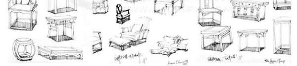 单体家具:单体家具的透视表现