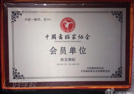 中国舞蹈家协会 街舞委员会】授予会员单位称号