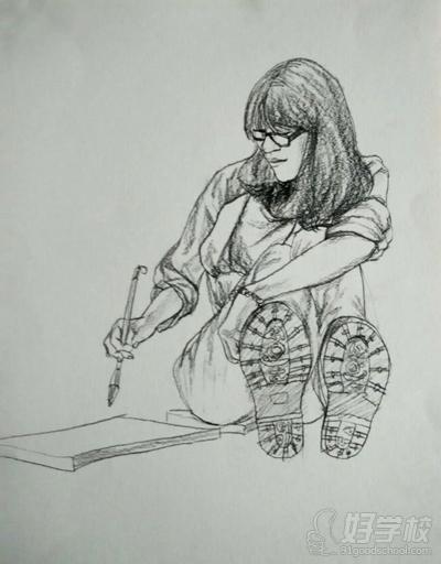 竖构图手绘东莞