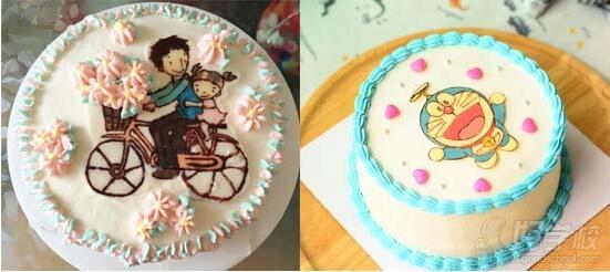 北海道戚风杯子蛋糕 手绘转印蛋糕chocolate  transfer  1.