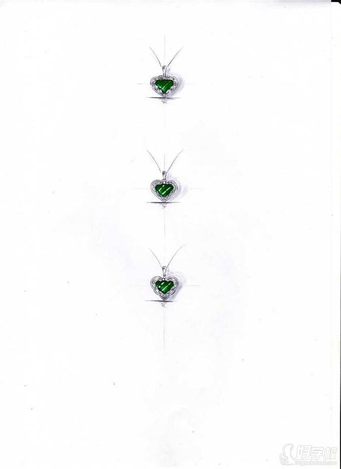 珠宝手绘设计作品欣赏