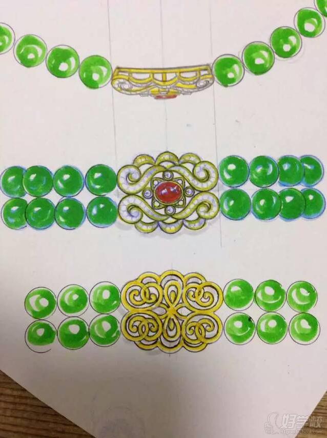 广州零基础珠宝手绘培训