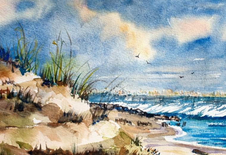 美术油画风景作品参考