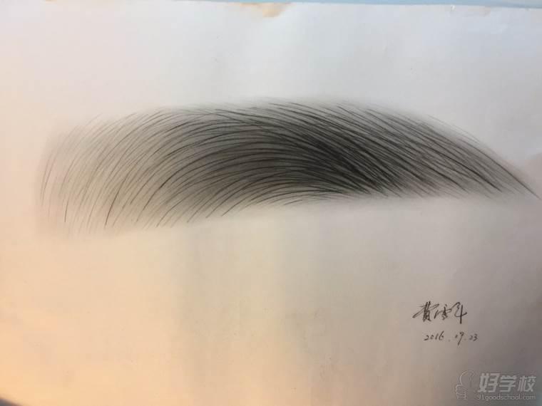 纹眉走线手绘图