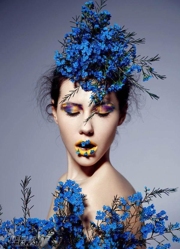 5)新娘发型造型设计 6)新娘头饰的制作和搭配 7)创意造型发型设计 1)图片