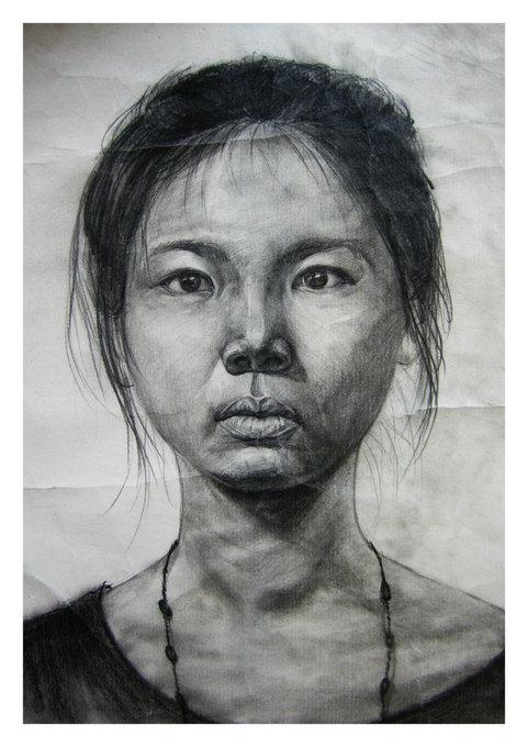 广州青年石膏头像