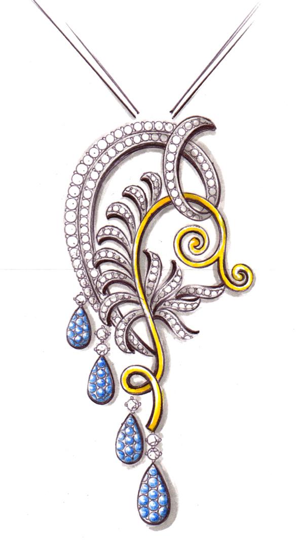 汇雅珠宝培训手绘设计课程图片