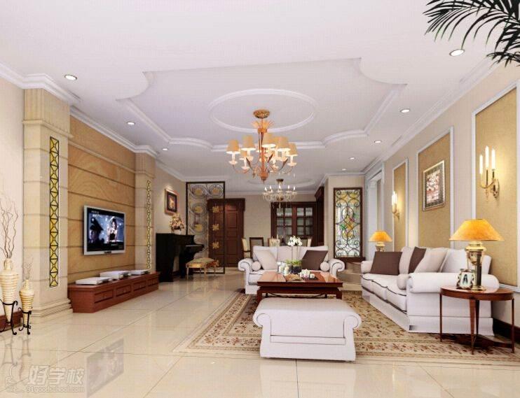 室内设计简约欧式效果施工图