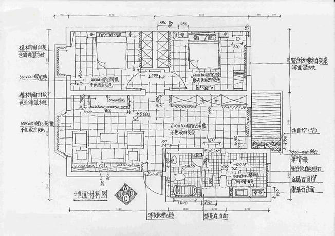室内手绘平面图; 手绘室内施工图班-上海英豪教育; 手绘室内施工图班