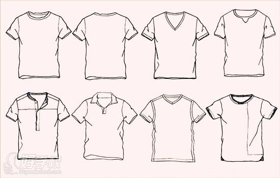 1.比例 在服装款式图的绘制中我们首先应注意服装外形及服装细节的比例关系,在绘制服装款式图之前,作者应该对所画的服装的所有比例有一个详尽的了解,因为各种不同的服装有其各自不同的比例关系。在绘制服装的比例时,我们应注意从整体到局部,绘制好服装的外形及主要部位之间的比例。如服装的肩宽与衣身长度之比,裤子的腰宽和裤长之间的比例,领口和肩宽之间的比例,腰头宽度与腰头长度之间的比例等等。把握好之些比例之后,再注意局部和局部,局部与整体之间的比例关系(必要时可以借助尺规)。 2.对称 如果沿人的眉心,人中,肚脐画