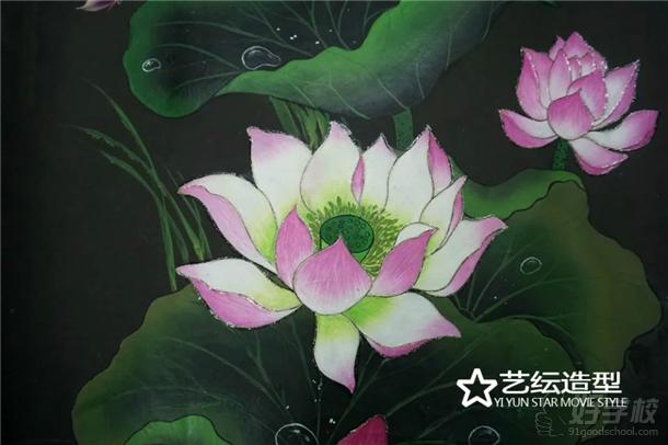 艺纭美甲学校学员近期美甲作品——排笔绘画作品图片