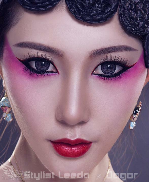 4,婚礼当天:白纱整体造型 晚礼整体造型  5,创意彩妆造型 个性艺术图片