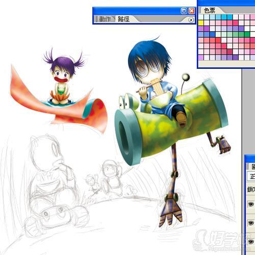 广州计算机动画制作专业初中起点3年中技班