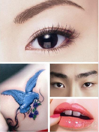 纹眼线或唇线的顾客