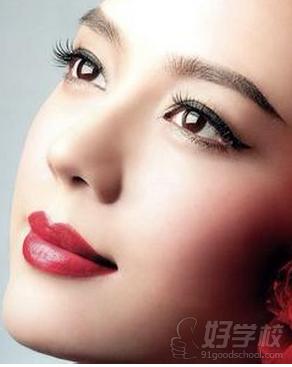 纹绣唇型画法图解