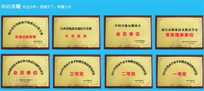 南昌向远轨道技术学校-教学荣誉