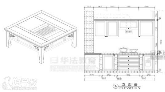 cad立体图,轴侧图,透视图表现等,学员可以独立设计家具图纸.