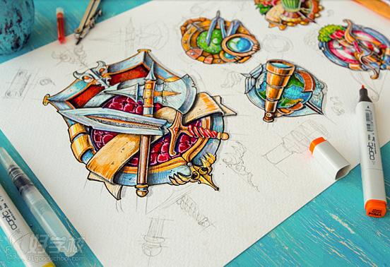 木纹材质表现 ui手绘