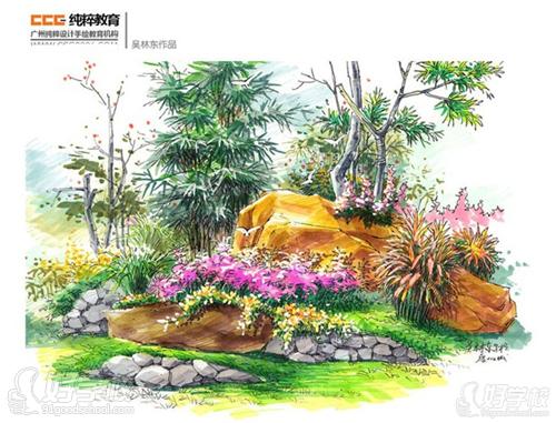 师生园林景观设计手绘图作品