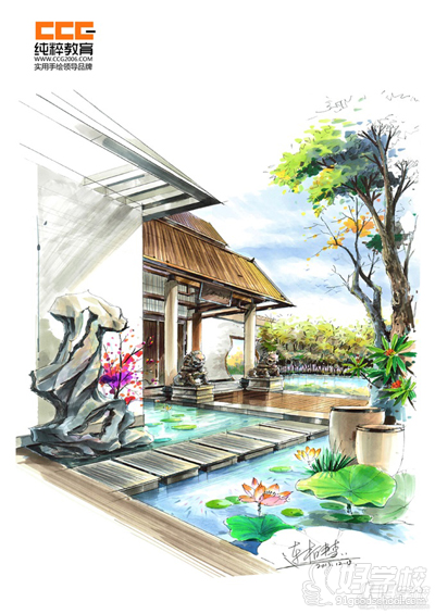 广州手绘设计效果图考研快题特训班